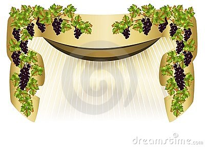 Border with grapes, cdr vector