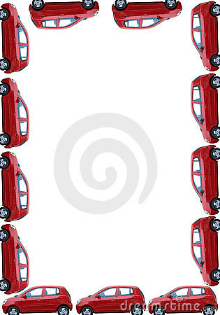 border with isolated cars royalty free stock photos