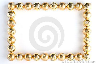 Border Made From Gold Baubles