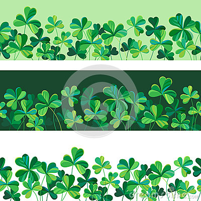 Free Border Of Clover Stock Photography - 67872922