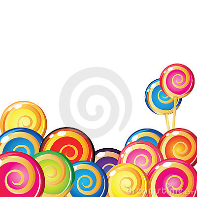 Free Border Of Lollipop. Royalty Free Stock Images - 10236759