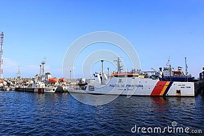Border police coast guard Editorial Stock Image