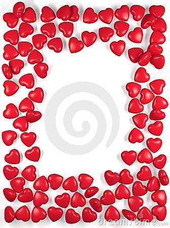 Border Of Scattered Hearts Royalty Free Stock Photo - Image: 17337075