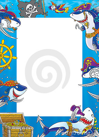 Free Border Sharks - Pirates Stock Photos - 12532763