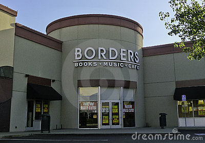 Borders Book Store Editorial Stock Photo