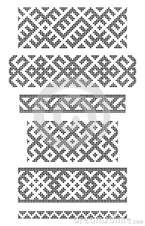 Borders, embroidery