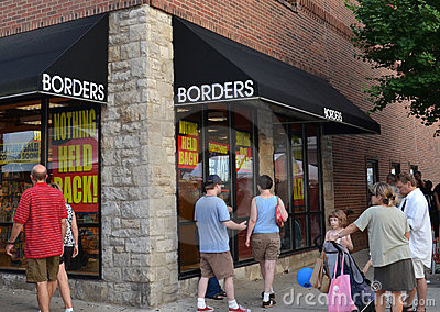 Borders flagship store liquidation sale Editorial Stock Image