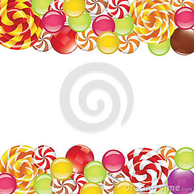 Free Borders With Candies And Lollipops Royalty Free Stock Image - 43456196