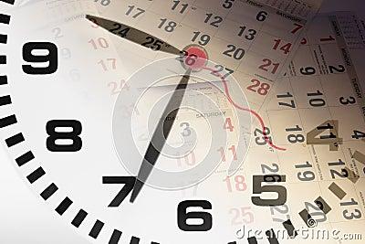 Borduhr-und Kalender-Seiten