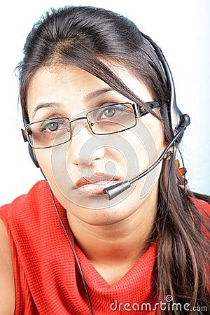 Free Bored Call Center Executive Stock Photography - 15690992