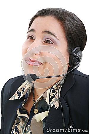 Free Bored Customer Service Operator Royalty Free Stock Photography - 21450147