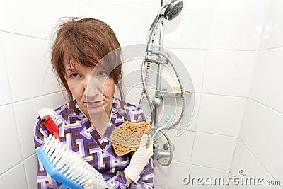 Bored housekeeper