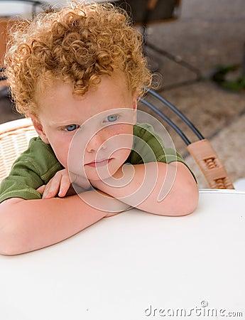 Bored Kid waiting