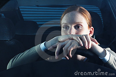 Bored Woman Driver
