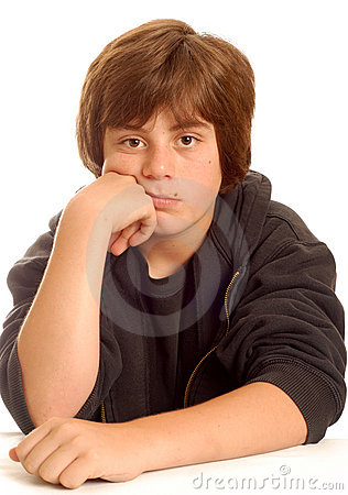 Free Bored Young Teen Boy Stock Photos - 5607503