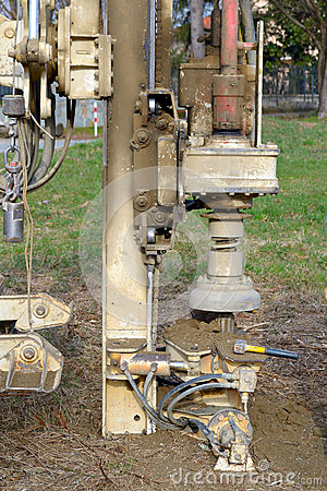 Free Borehole For Soil Testing Royalty Free Stock Image - 39227506