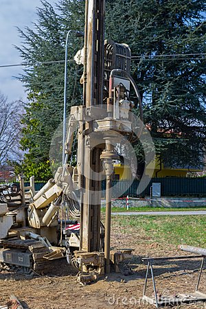 Free Borehole For Soil Testing Royalty Free Stock Image - 47429216