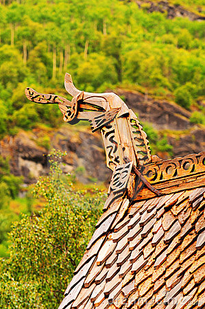 Borgund church roof