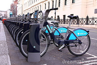 Boris Bikes Editorial Photo