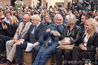 Boris Johnson front Row london Fashion week. Editorial Stock Photo