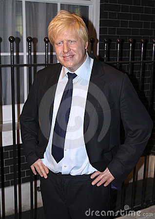 Boris Johnson at Madame Tussaud s Editorial Photography