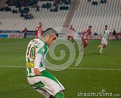 Borja García from match league Cordoba vs Girona Editorial Photography