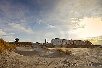 Borkum beach and boardwalk