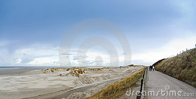 Borkum north beach in winter