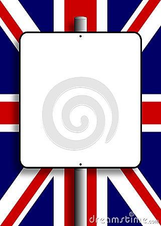 Borne de sinal BRITÂNICO da bandeira