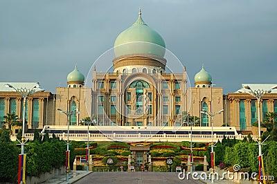 Borne limite à Putrajaya, Malaisie