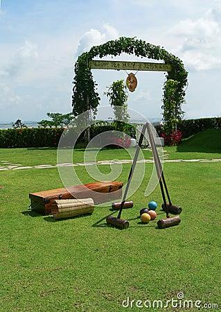 Borneo. Croquet Playing Equipment