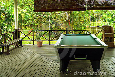 Borneo. Jungle Lodge Pool Table