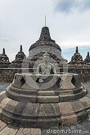 Borobudur Buddist temple Editorial Photo