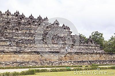 Borobudur Heritage in Yogyakarta, Indonesia Editorial Stock Photo