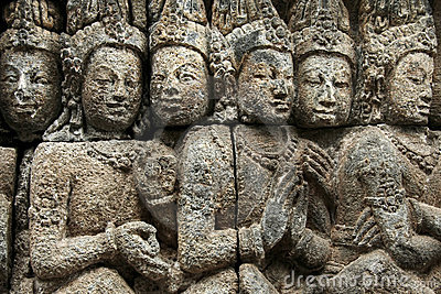 Borobudur temple ancient wall art indonesia