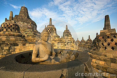 Borobudur Temple, Yogyakarta, Java, Indonesia. Royalty Free Stock Photography - Image: 12163287