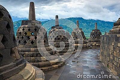 Borobudur temple Yogyakarta. Java, Indonesia