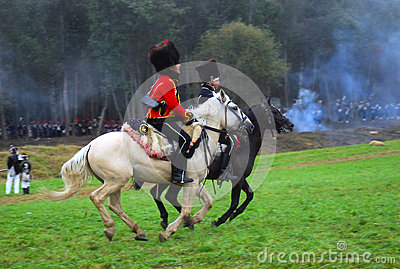 Borodino 2012 historical reenactment Editorial Stock Photo