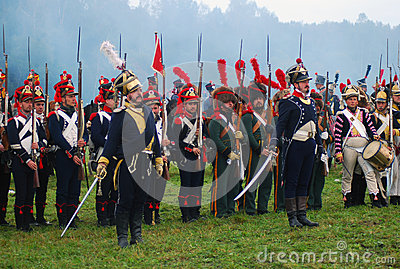 Borodino 2012 historical reenactment Editorial Photo