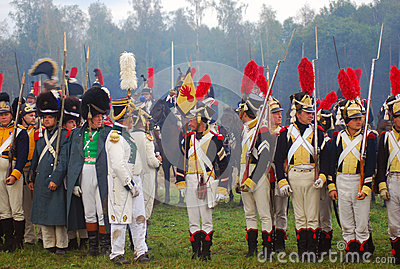 Borodino 2012 historical reenactment Editorial Stock Image