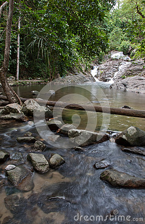 Borripat Waterfall in Satun, Thailand