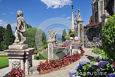 Botanical gardens, Borromeo palace, Isola bella.