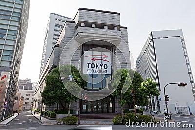 Borsa valori di Tokyo nel Giappone Immagine Editoriale