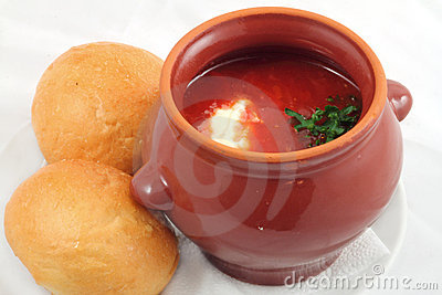 Borsch in the pot