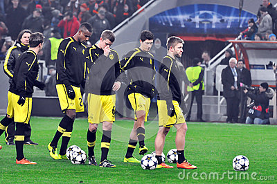 Borussia Dortmund football team Editorial Stock Photo