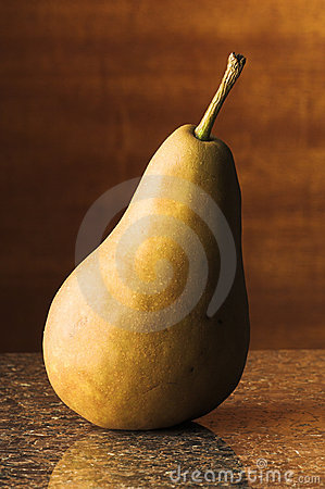 Bosc Pear On Granite Royalty Free Stock Photo - Image: 20124575