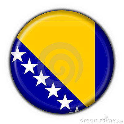 Bosnia button flag round shape
