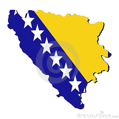 Bosnia map flag