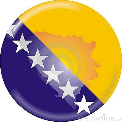 Bosnia map and flag