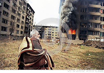 BOSNIAN CIVIL WAR Editorial Stock Image
